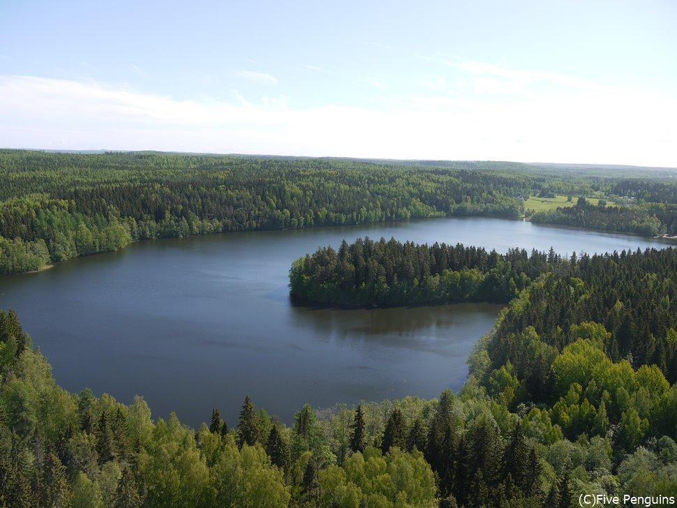 上から見たアウランコ自然保護区