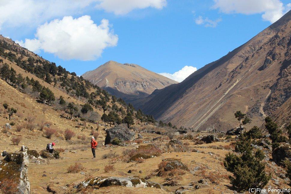 チョモラリ・トレック、トレッキング中の風景(ブータン)