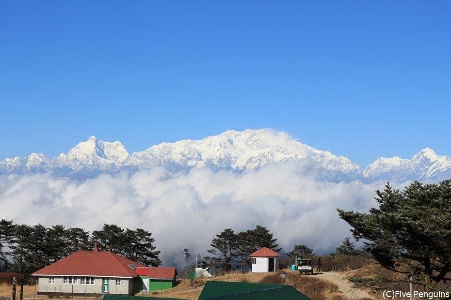 世界3位のカンチェンジュンガ峰 インドはヒマラヤの国でもあります