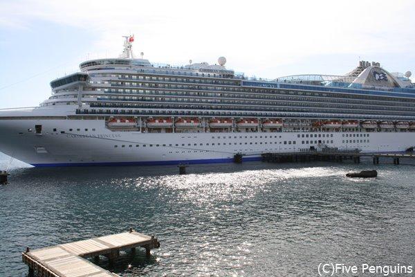 大型クルーズ船が首都ロゾーに 停泊