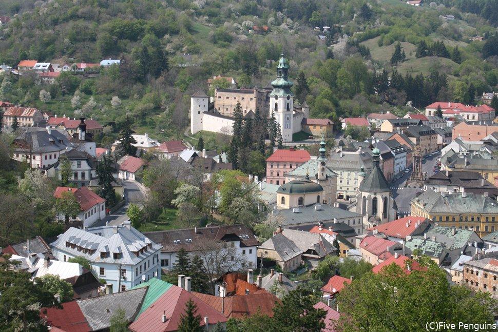 バンスカー・シュティアヴニツァは世界遺産の中世都市(スロバキア)