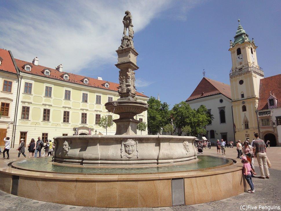 ブラチスラバの旧市街(スロバキア)