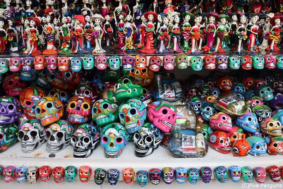 どくろのモチーフが有名なメキシコ(メキシコシティ)