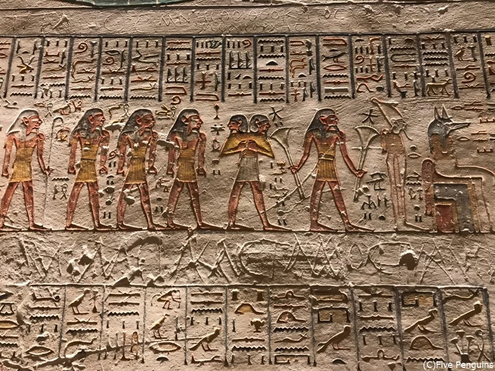ラムセス6世の墓の壁画。この周りもバーチャルで鑑賞可
