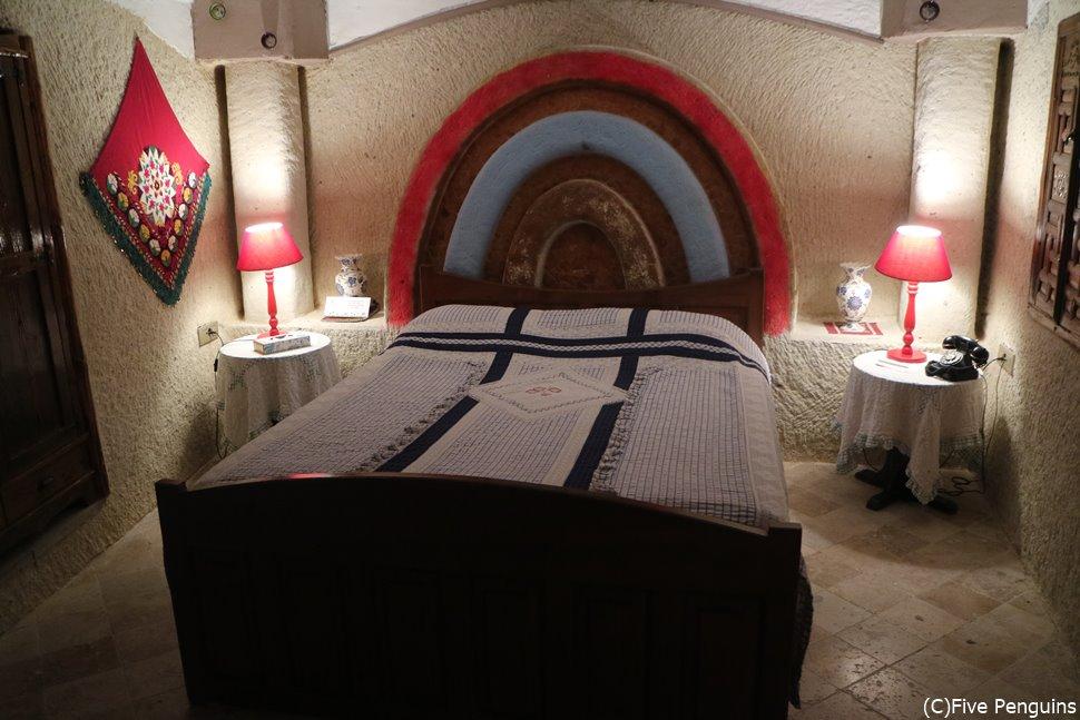 ゆったりとした寝室
