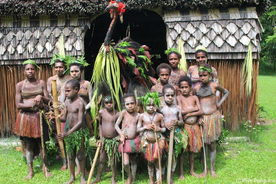 ハウスタンバラン(精霊の家)があることで知られるカンガナム村
