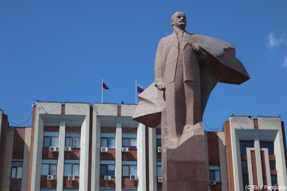 ソ連でおなじみのレーニン像