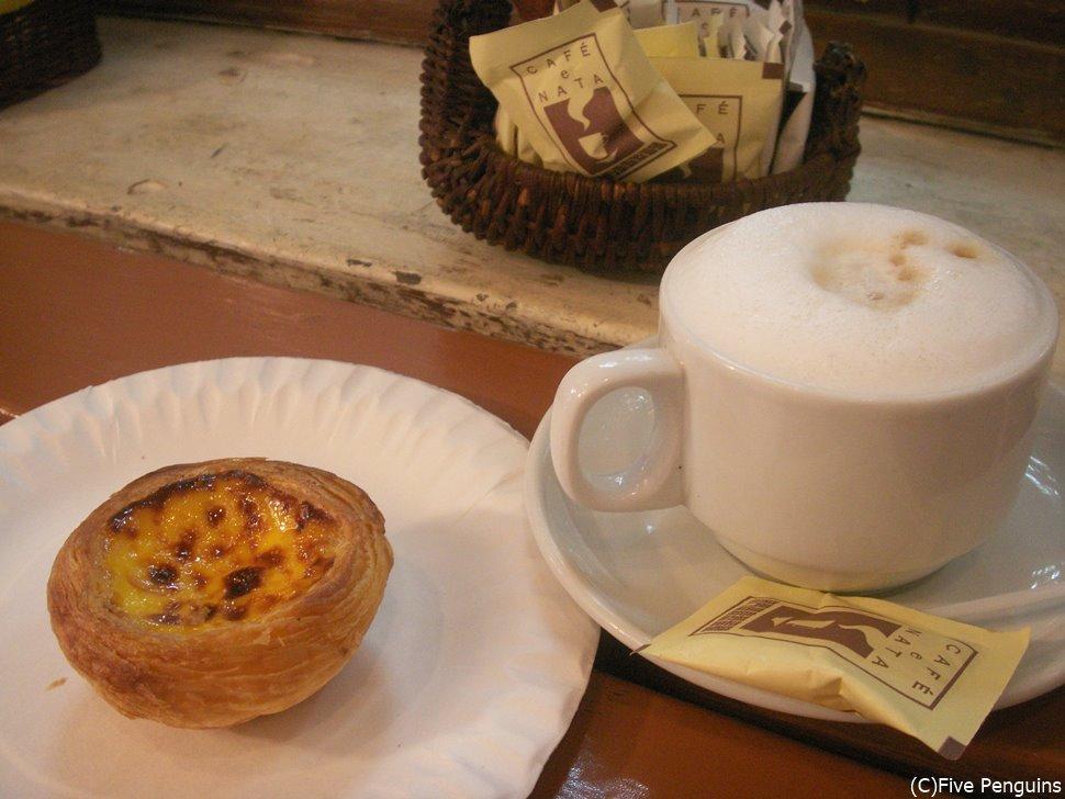 「マーガレット・カフェ・ナタ」のエッグタルト