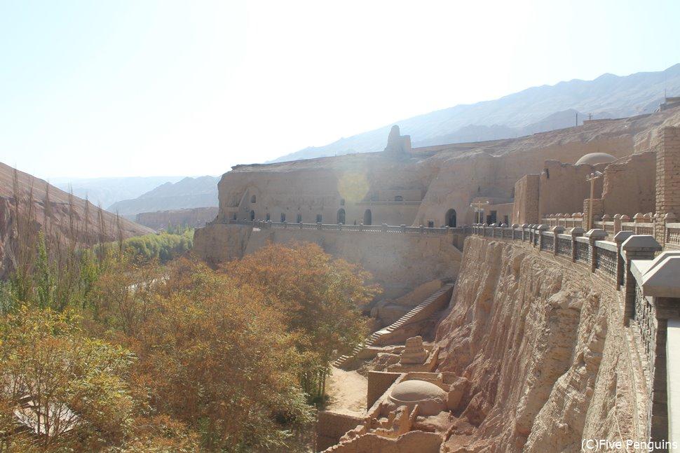 トルファン郊外の仏教石窟 ベゼクリク千仏洞