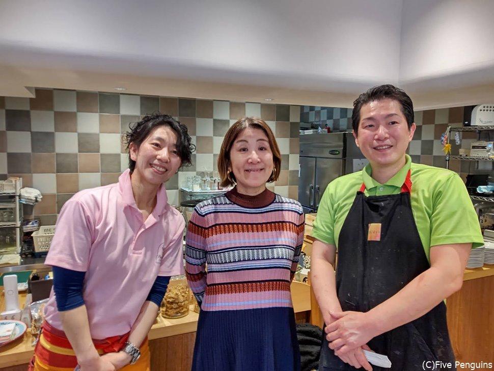 気さくなシェフの鈴木五郎氏と優しい奥様と一緒に!