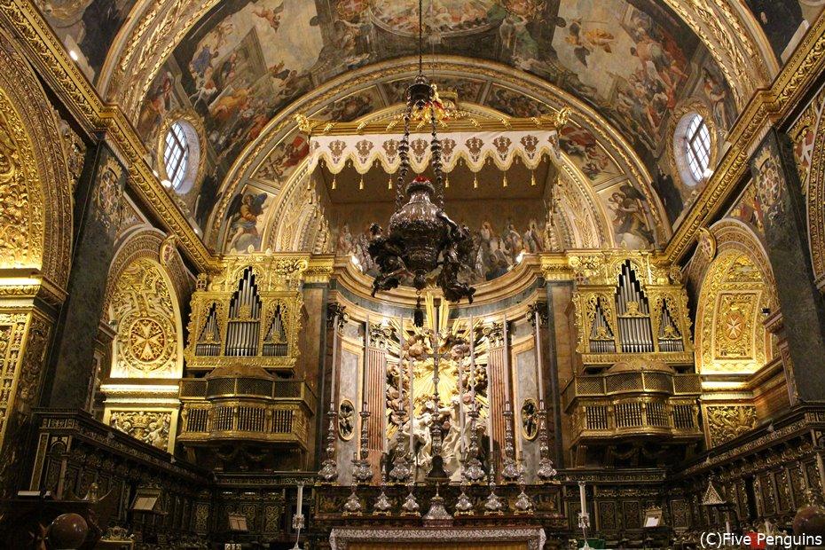 マルタ騎士団の栄華が分かる豪華な装飾