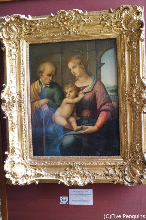 ラファエロの「聖家族」(エルミタージュ美術館)