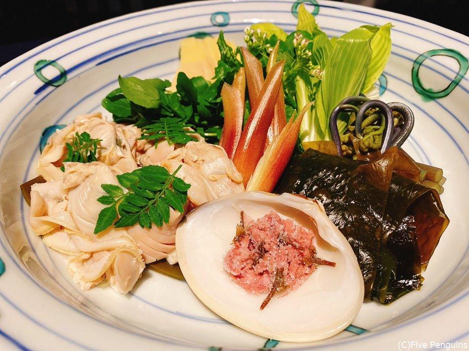 蛤の春香鍋の具材