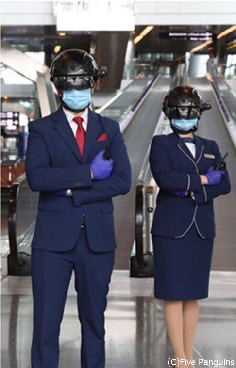 ドーハ・ハマド国際空港のスタッフ