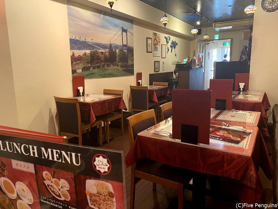 トルコ料理レストラン「ユルディズ」店内