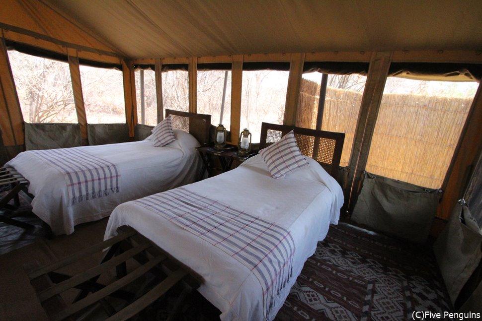 チャダ カタヴィのお部屋の清潔なベッドは快適