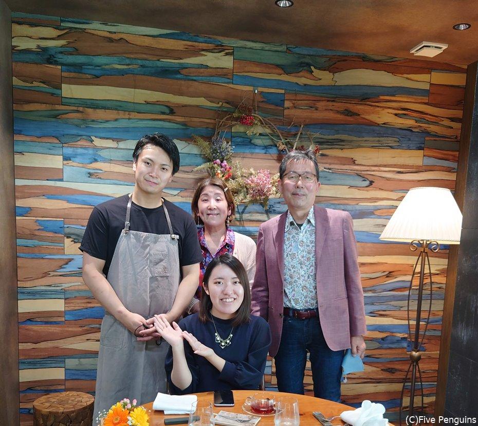 シェフの鈴木夏暉氏と1枚!とても気さくな方でした