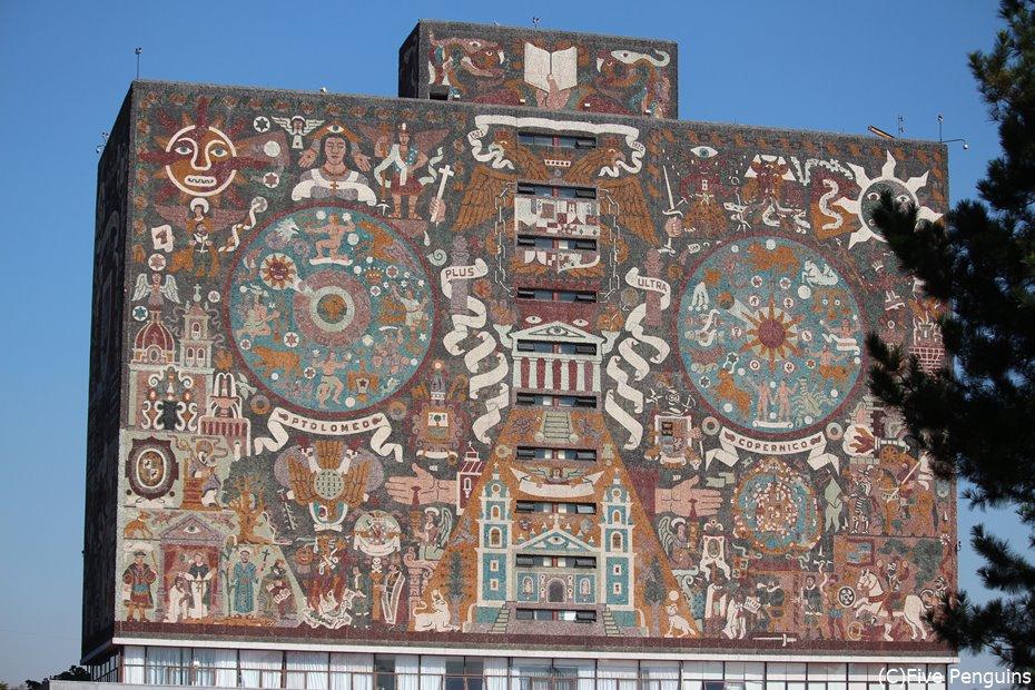 世界遺産 国立自治大学にあるフアンオゴルマンの壁画