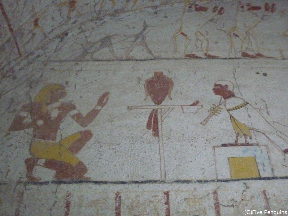タハルカ王妃の玄室の壁画「死者の審判」<スーダン>