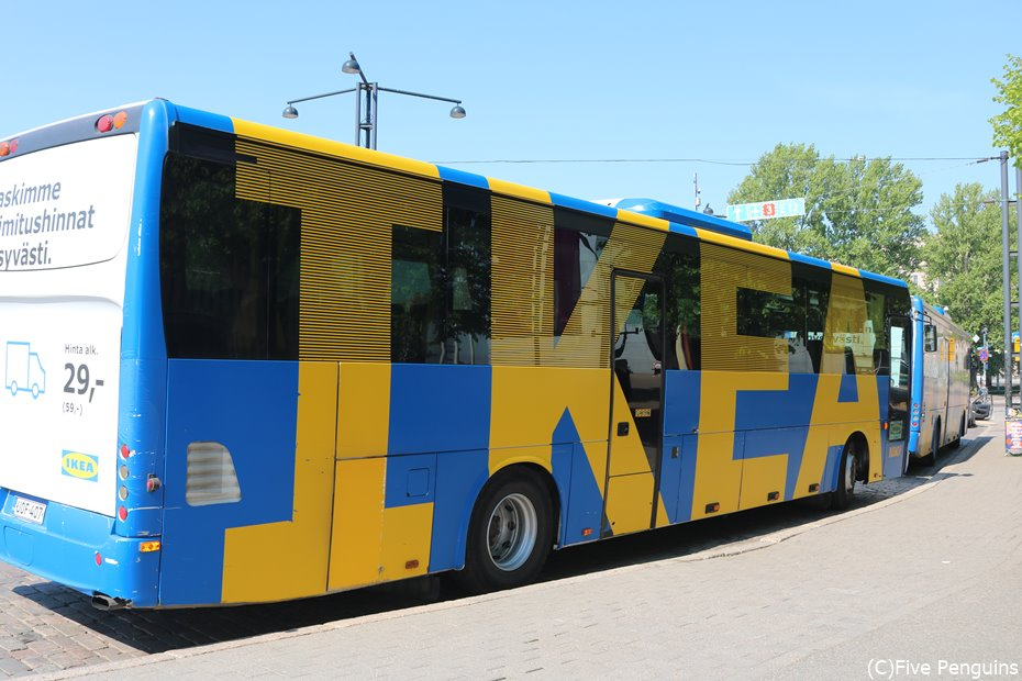 ヘルシンキのIKEAラッピングバス