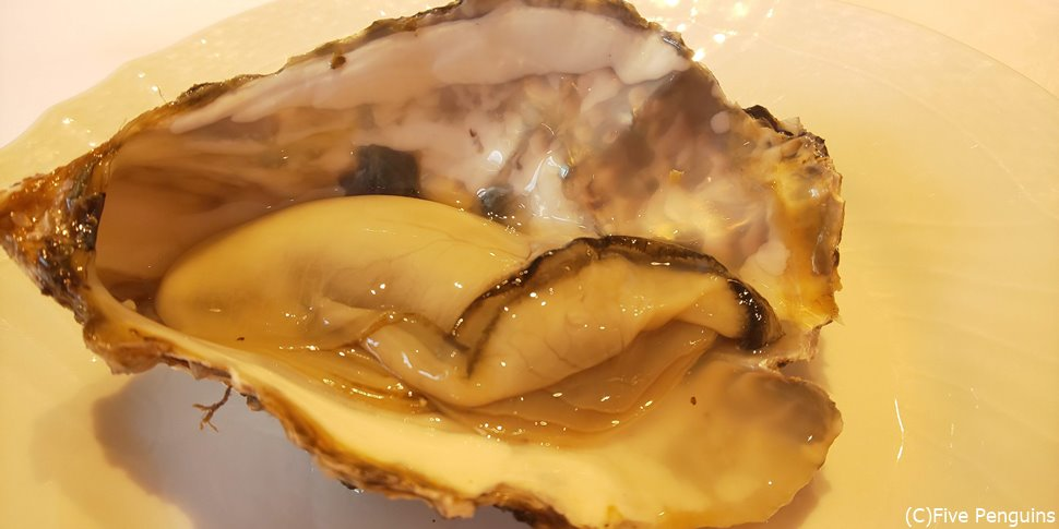 今日は広島県の無人島で採れた新鮮な生ガキを少し味見。夏でも生ガキが嬉しい