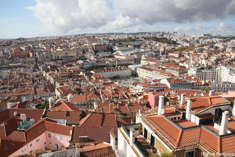 サンジョルジェ城からのリスボンの街並み