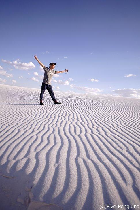 壮大な砂丘を目の前にするとなにもかも忘れられる