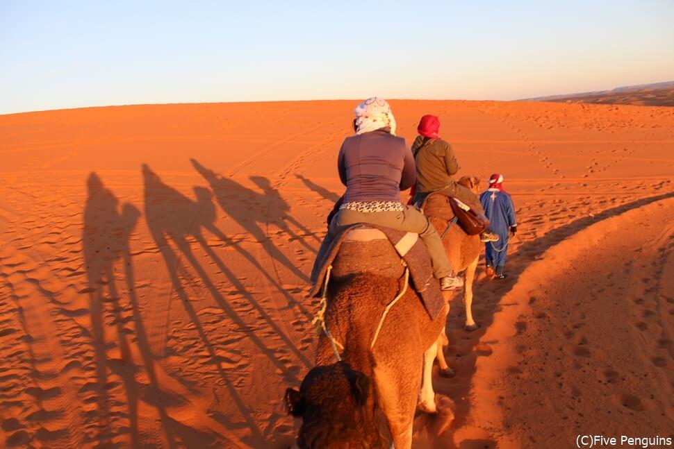 砂漠への旅はまさに非日常の世界。