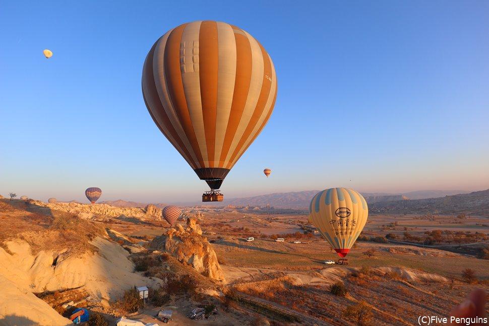 トルコ乗継ぎは大丈夫? 写真はカッパドキアの気球