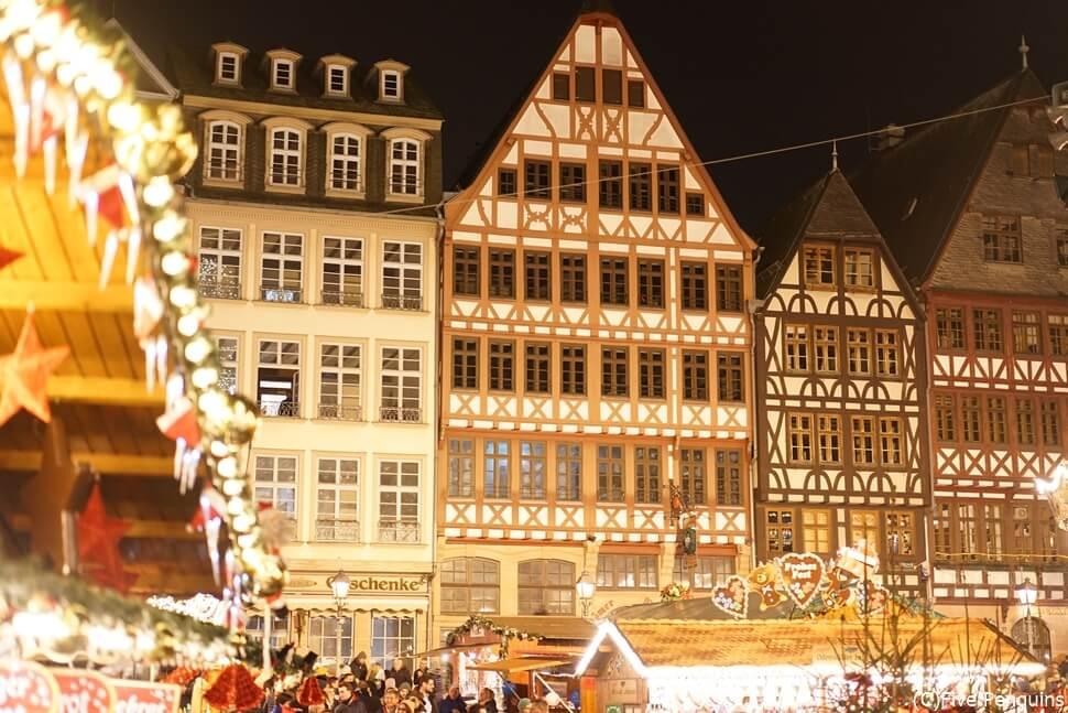 フランクフルト レーマー広場のクリスマスマーケット