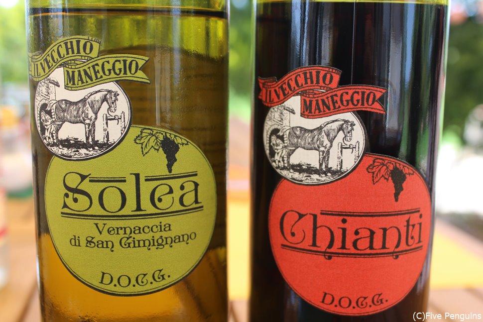 サンジミニャーノのアグリツーリズモでつくられたオリジナルワイン