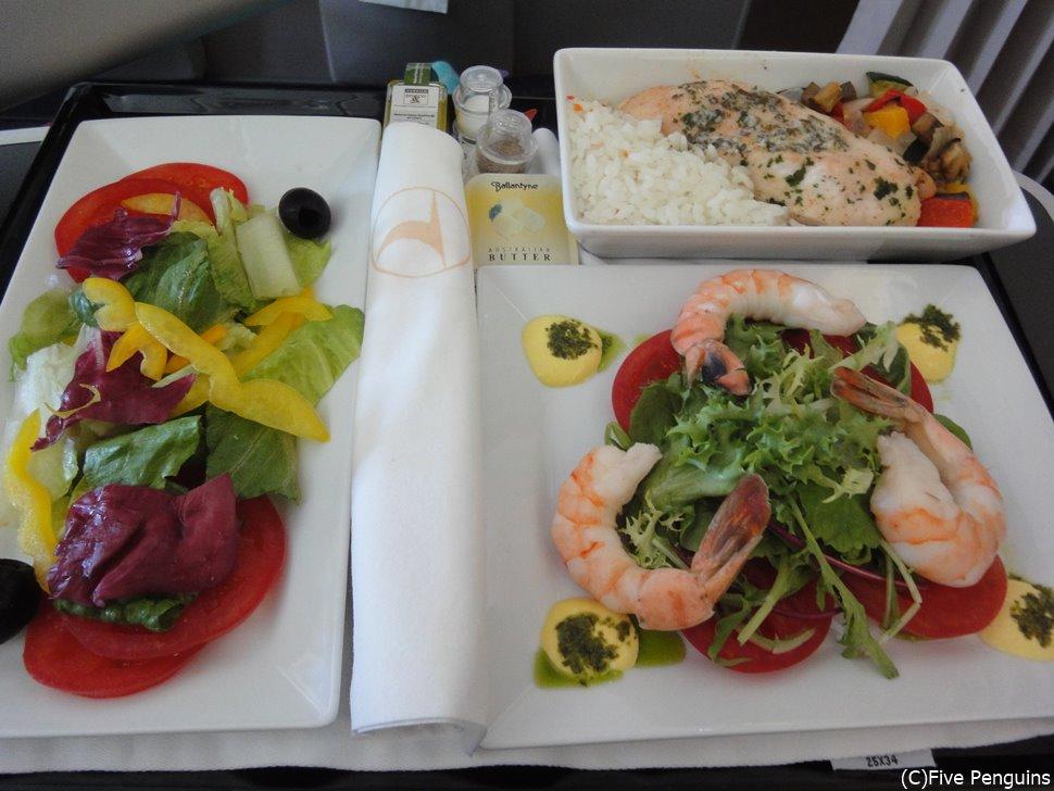 ターキッシュエアラインズは機内食が美味しいと評判です。