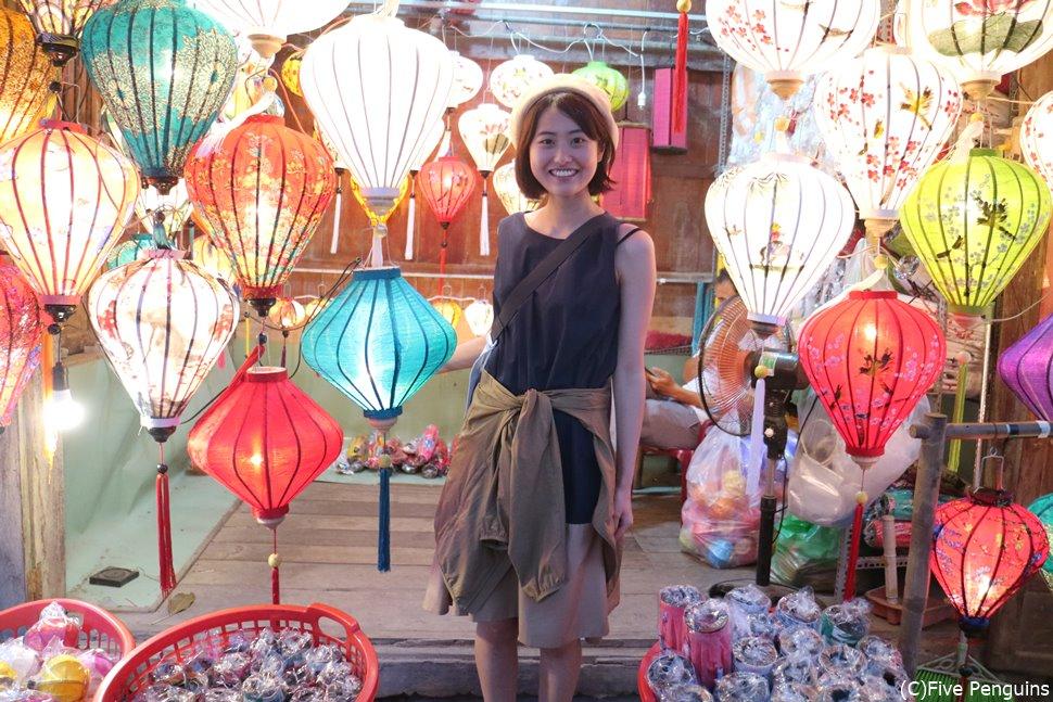 ベトナム世界遺産のひとつ「ホイアンの旧市街」提灯が可愛い