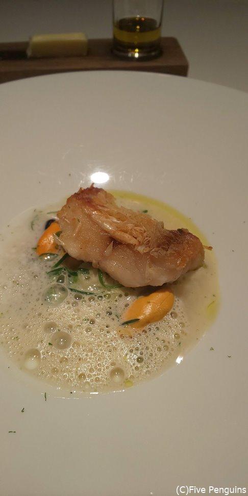 甘鯛の松笠焼き。ウロコがパリパリで美味しい!!