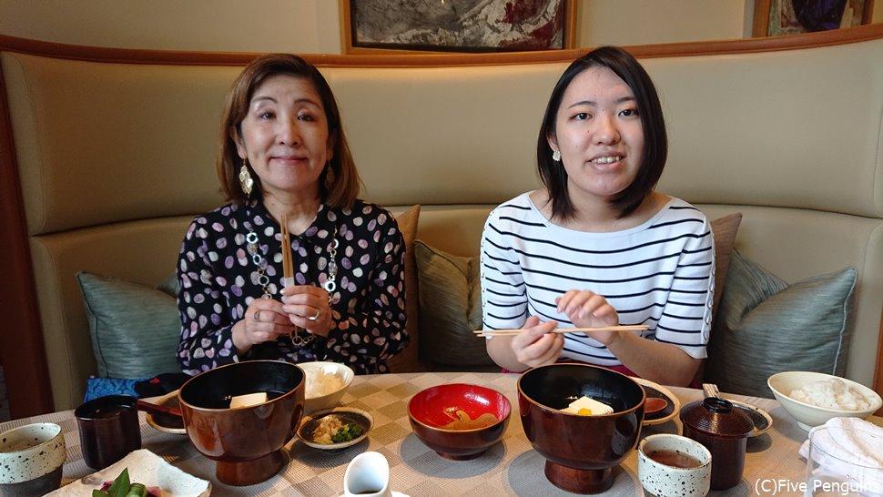 朝は和食が味わえる。京料理を一通り習ったそうで素晴らしい出来栄えに驚く