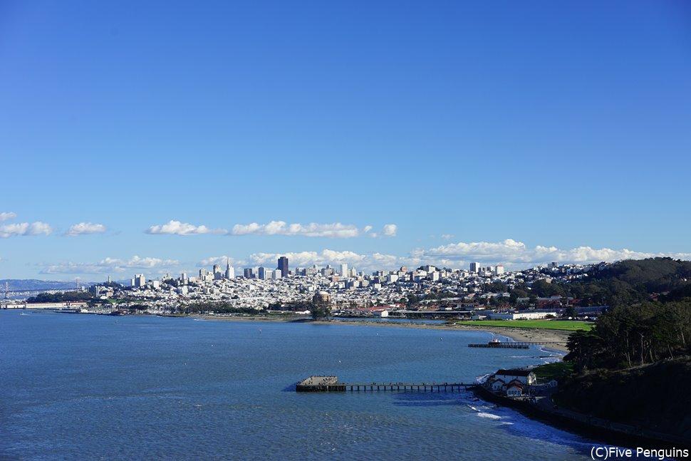 ゴールデンゲートブリッジからの景色<サンフランシスコ>