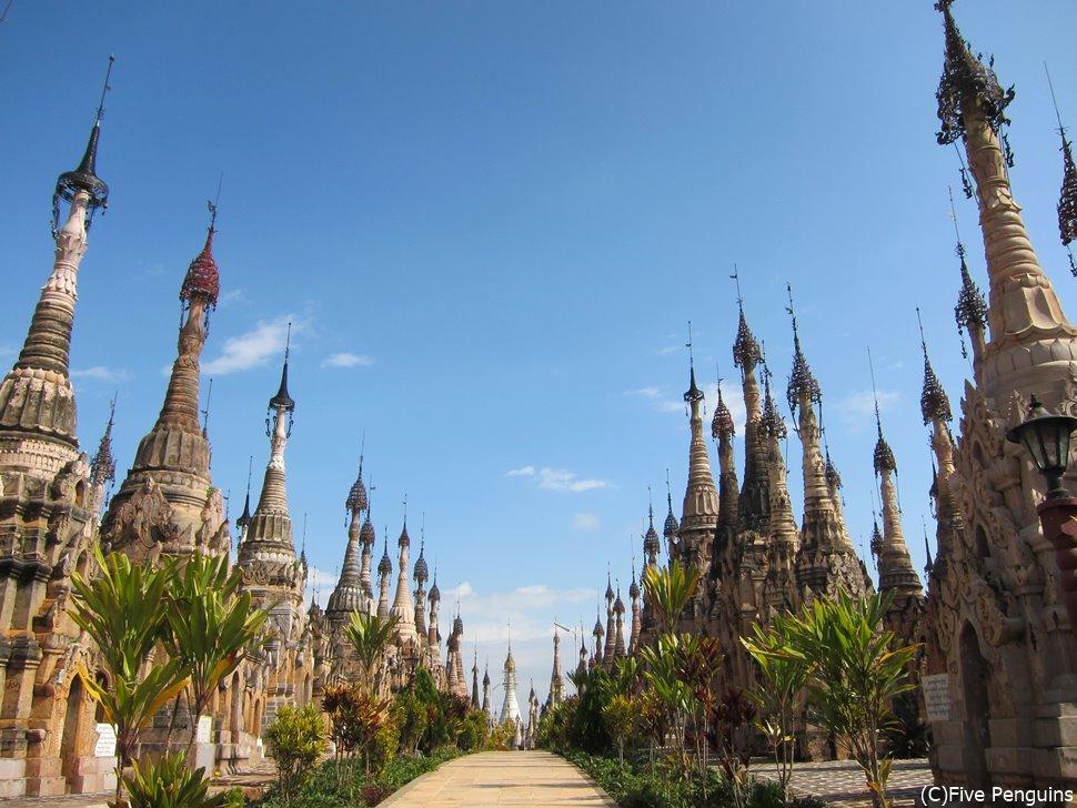 仏塔の数に圧倒されるカックー遺跡
