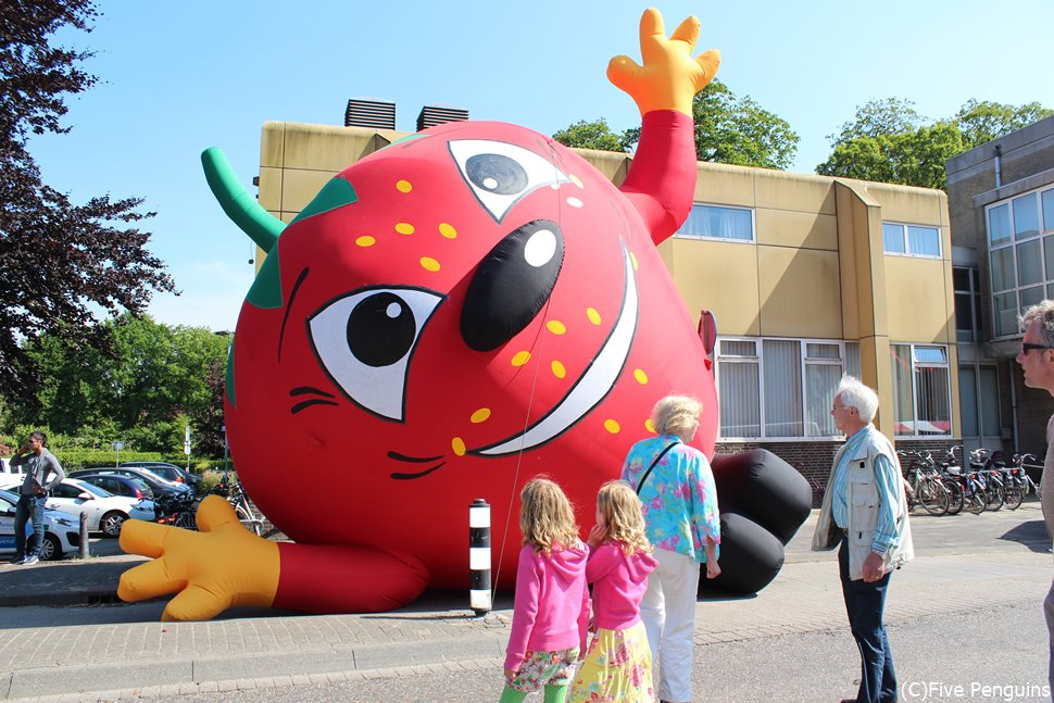 ゴッホ生誕の町・1年に1回のイチゴ祭り<ズンデルト>