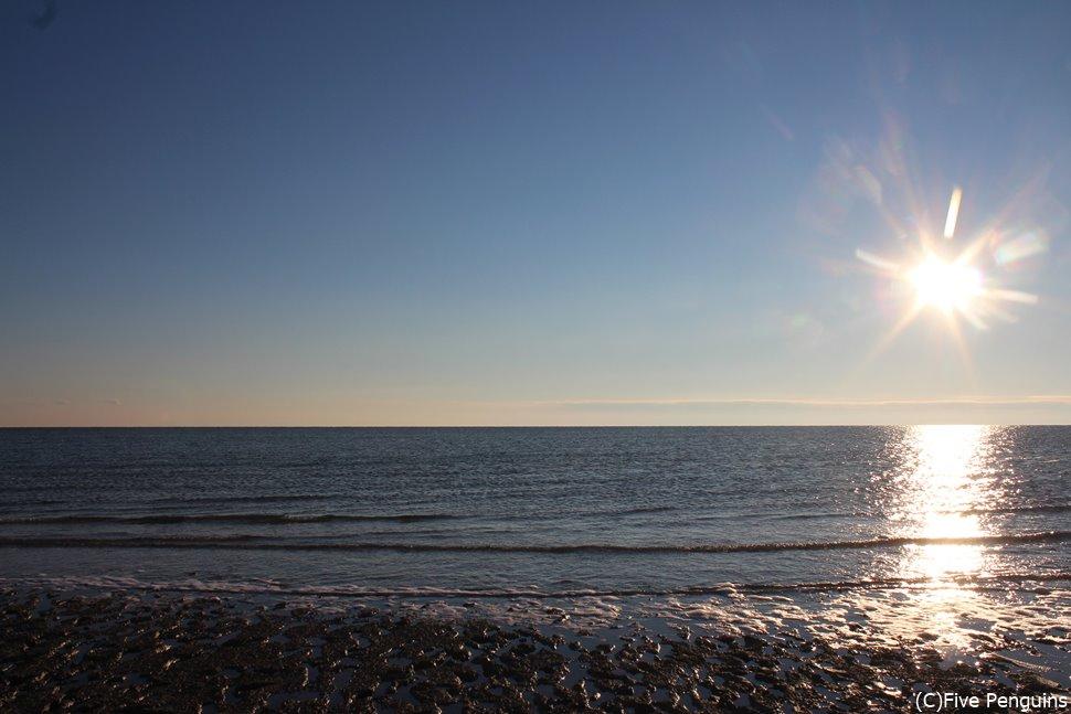美しいアラル海の昼下がり