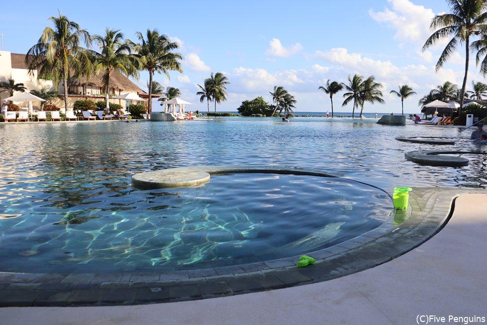 リビエラ・マヤのリゾートホテル、Grand Velas Riviera Maya。カンクンから車で約1時間。