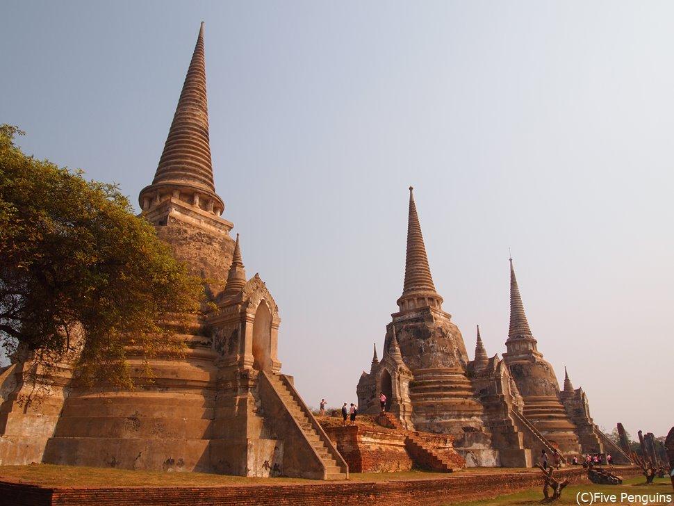 世界遺産アユタヤの遺跡は必見!!バンコクから日帰りで行けます。