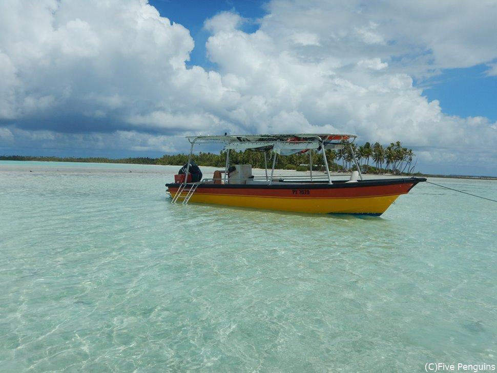 ランギロア島のブルーラグーンツアー