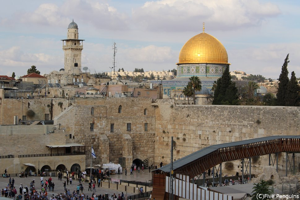 イスラエルの嘆きの壁と岩のドーム