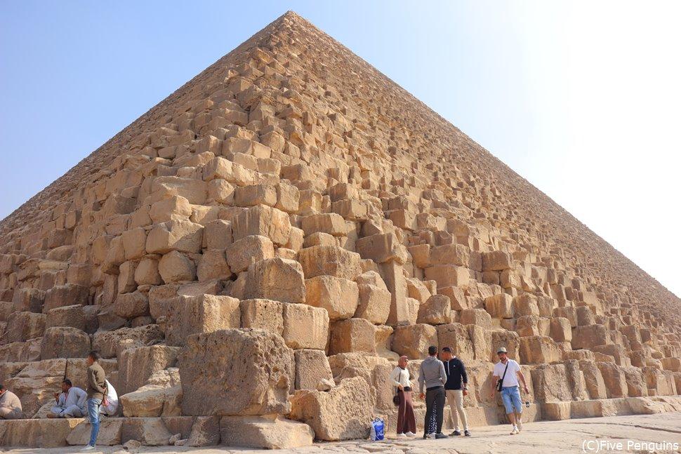 3大ピラミッドの中でも最大のクフ王のピラミッド
