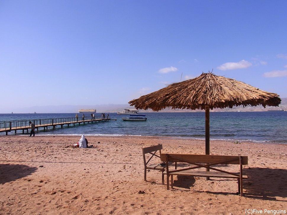 最南端のアカバは紅海に面しているので、ダイビングもできます。