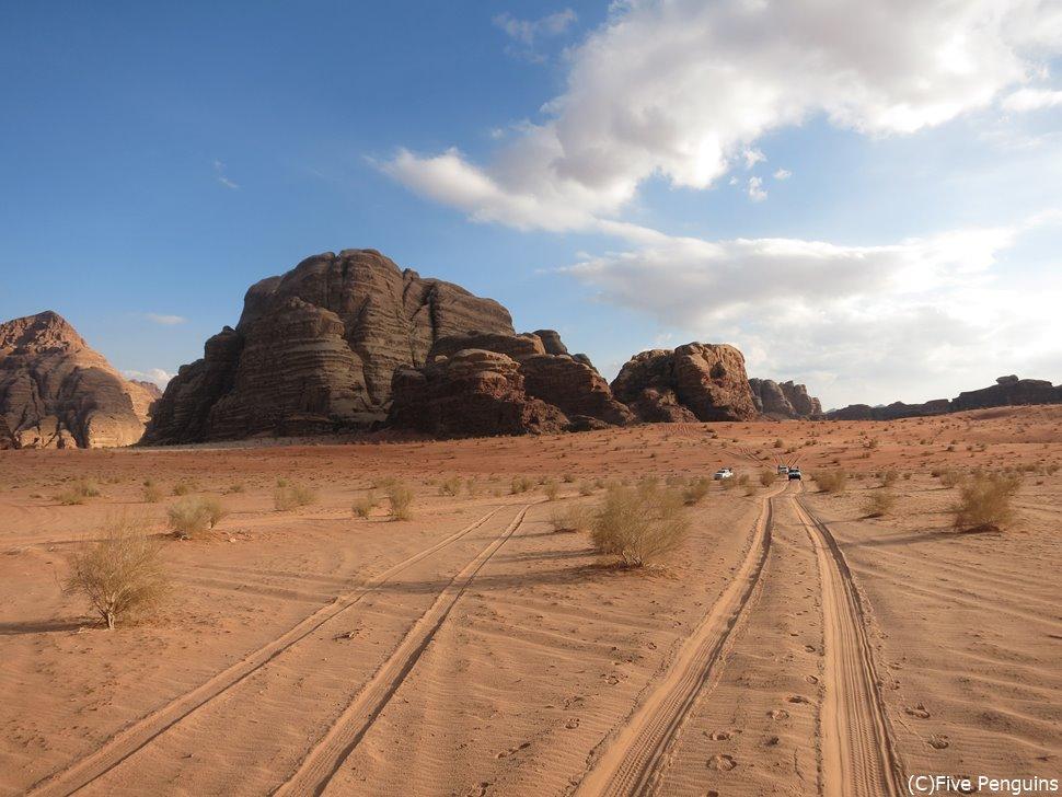 映画『アラビアのロレンス』のロケ地として使われたワディラム