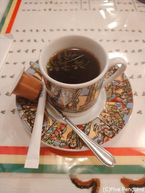 すっきりした味わいのモカコーヒーがうれしい