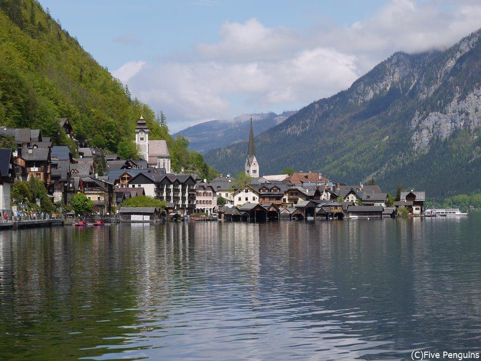 湖畔の町ハルシュタットは世界遺産に指定されている