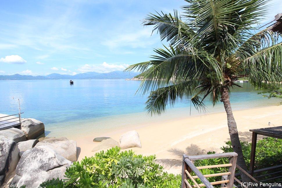 透き通るような海と白砂が美しい。