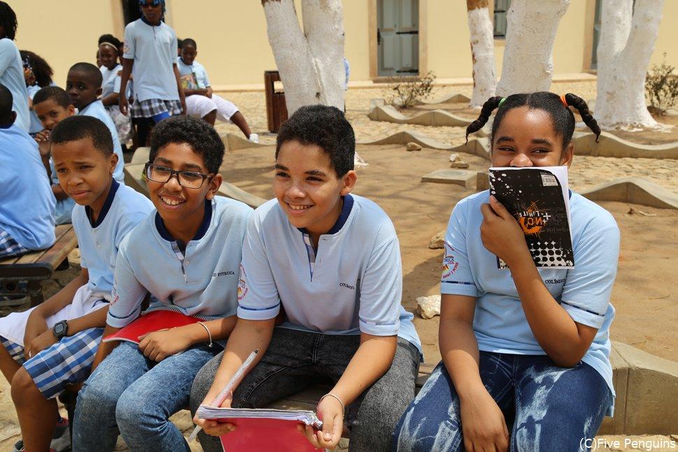 ルアンダの城塞に来ていた学生たち